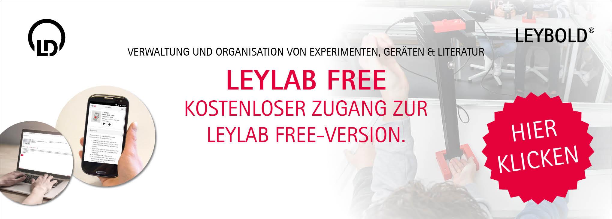 Registrierung LeyLab Free-Version